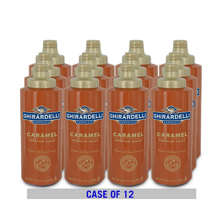 Caramel Sauce Squeeze Bottle Case (12 ct / 17 oz. ea)