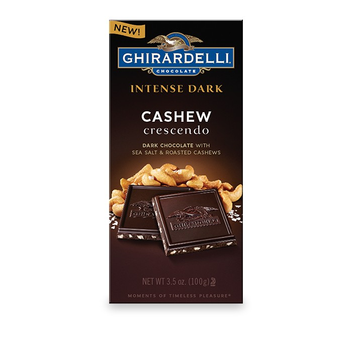 Dark Chocolate Sea Salt Roasted Cashew Bar (3.5 oz.)
