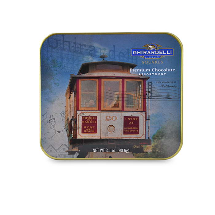 San Francisco Cable Car Tin (6 pc, 2-Flavor Mix)