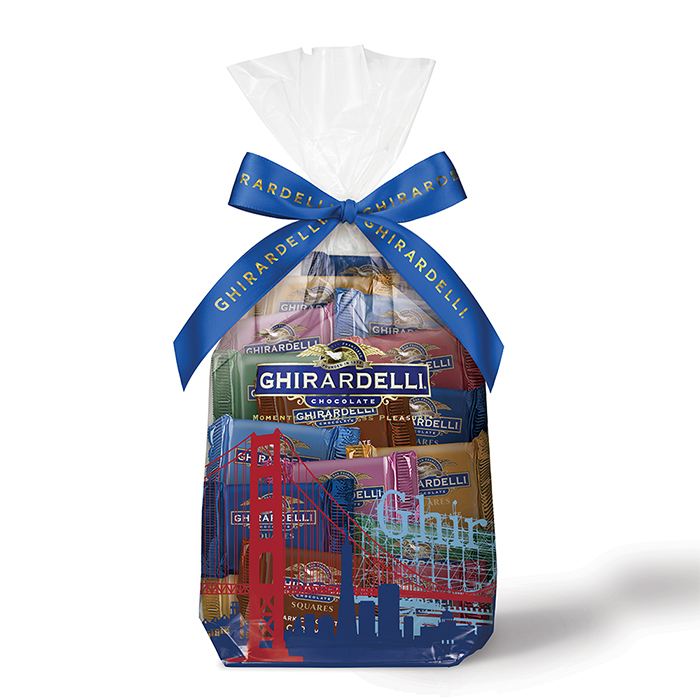 Image for San Francisco Assorted SQUARES Gift Bag (80 pc) from Ghirardelli
