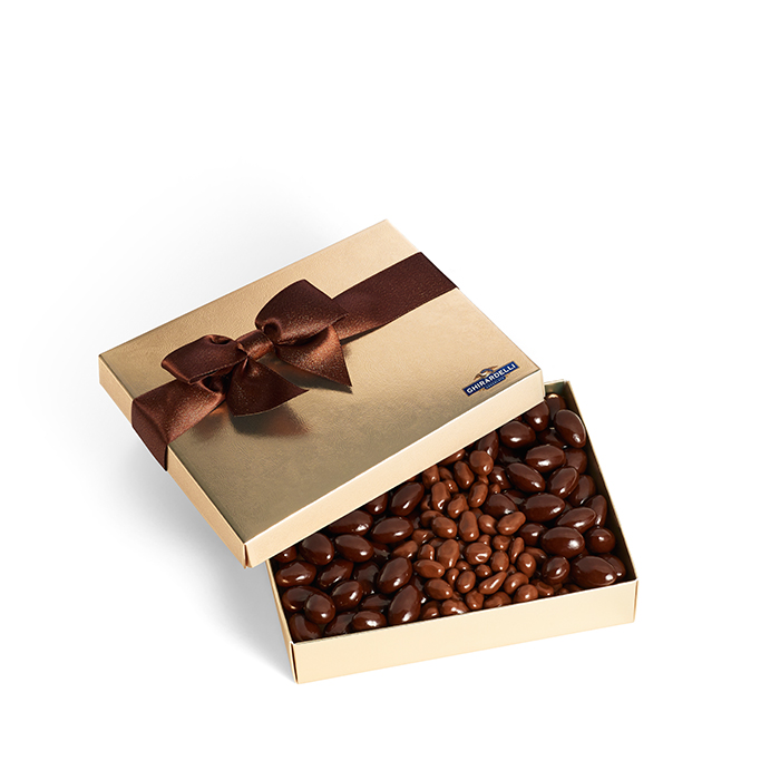 Chocolate Covered Nut Gift Box  (16 oz.)
