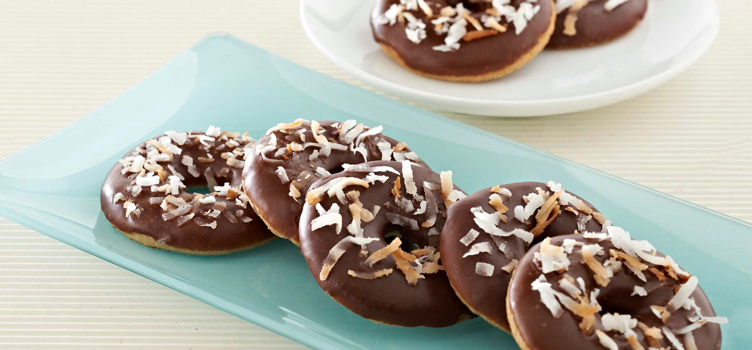 Image for Dark Chocolate Glazed Coconut Ringlets from Ghirardelli