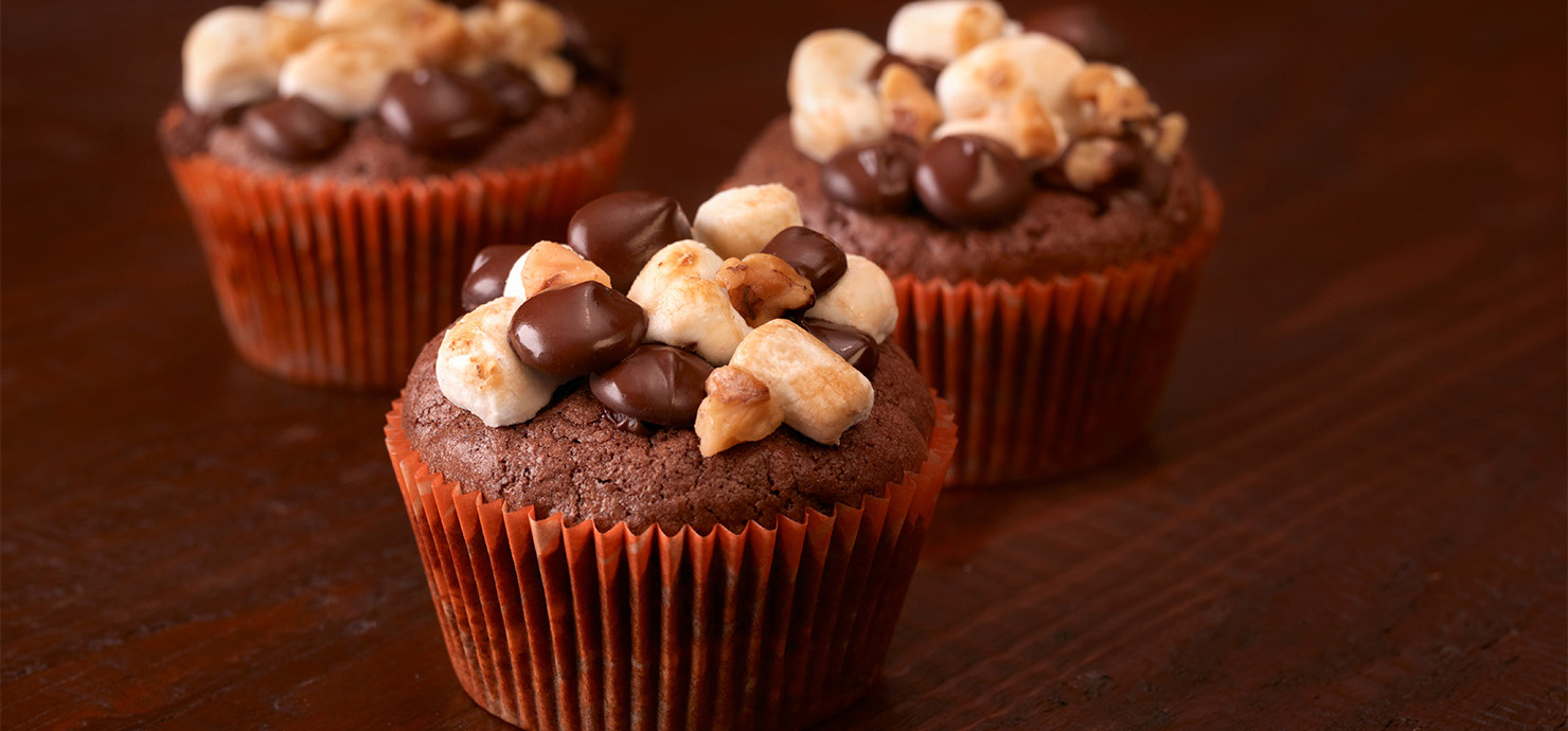 Image for Rocky Road Cupcakes from Ghirardelli