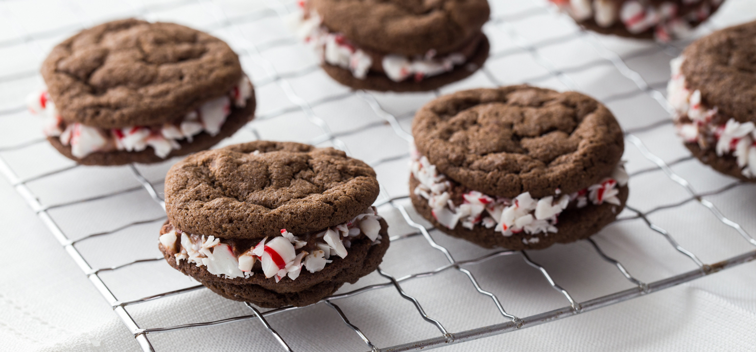 Image for Triple Chocolate Peppermint Sandwich Cookies from Ghirardelli