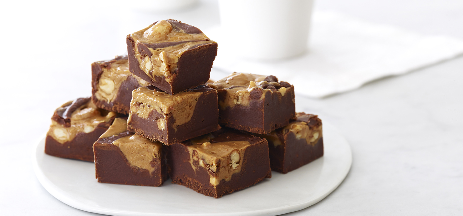 Image for Ghirardelli Peanut Butter Swirled Fudge from Ghirardelli