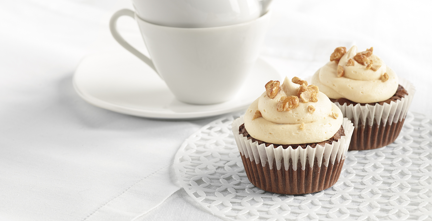 Image for Caramel Pecan Cupcakes from Ghirardelli