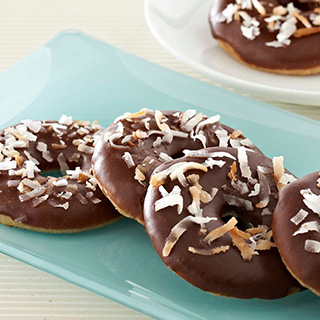 Dark Chocolate Glazed Coconut Ringlets