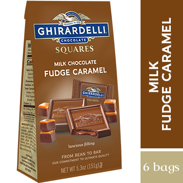 Fudge Caramel SQUARES Medium Bags (Case of 6)