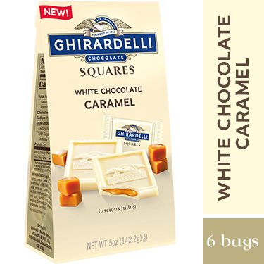 Image for White Chocolate Caramel SQUARES Medium Bags (Case of 6) from Ghirardelli