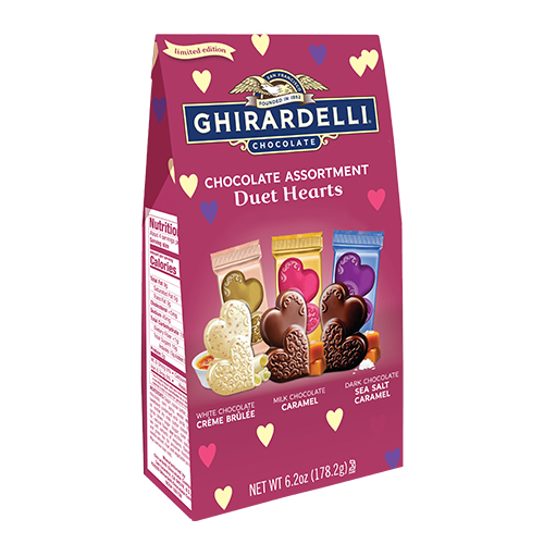 Image for Assorted Chocolate Duet Hearts Large Bags (Case of 12) from Ghirardelli