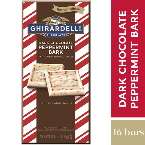 Dark Peppermint Bark Bar (Case of 16)
