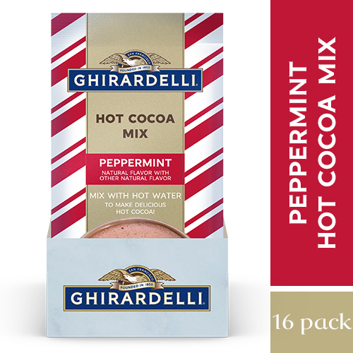 Image for Peppermint Hot Cocoa Packet (16 ct.) from Ghirardelli