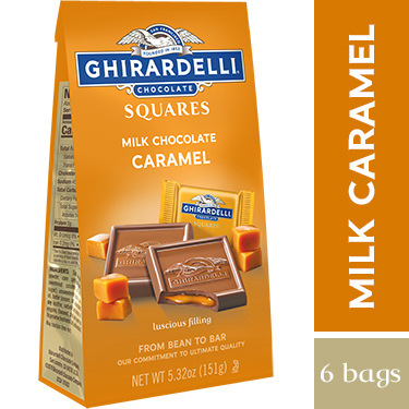 Milk Chocolate Caramel SQUARES Medium Bags (Case of 6)