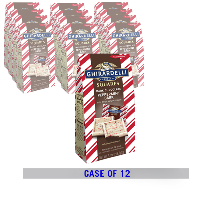 Image for Peppermint Bark & Dark Chocolate Large Gift Bags (Case of 12, 7.7 oz. ea.) from Ghirardelli