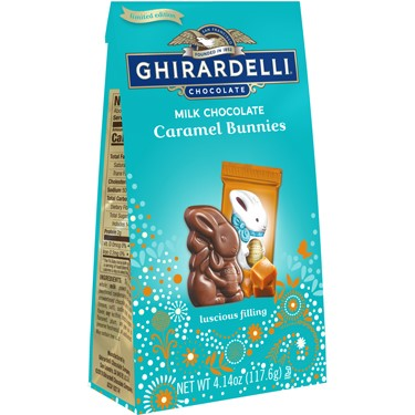 Image for Milk Chocolate Caramel Bunnies Medium Bag (Case of 12) from Ghirardelli