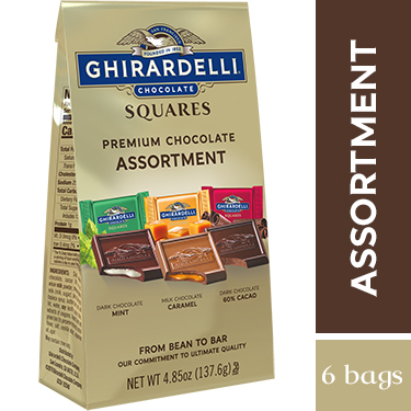 Image for Assorted Chocolate SQUARES Medium Bags (Case of 6) from Ghirardelli
