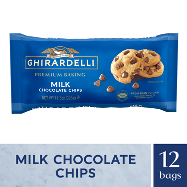 Image for Milk Chocolate Chips (Case of 12 Bags) from Ghirardelli