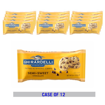 Image for Semi Sweet Chocolate Chips Case Pack (12 bags / 12 oz. ea) from Ghirardelli