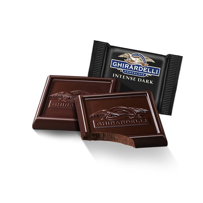 Image for Intense Dark Chocolate 72% Cacao SQUARES Case Pack (540 ct) from Ghirardelli