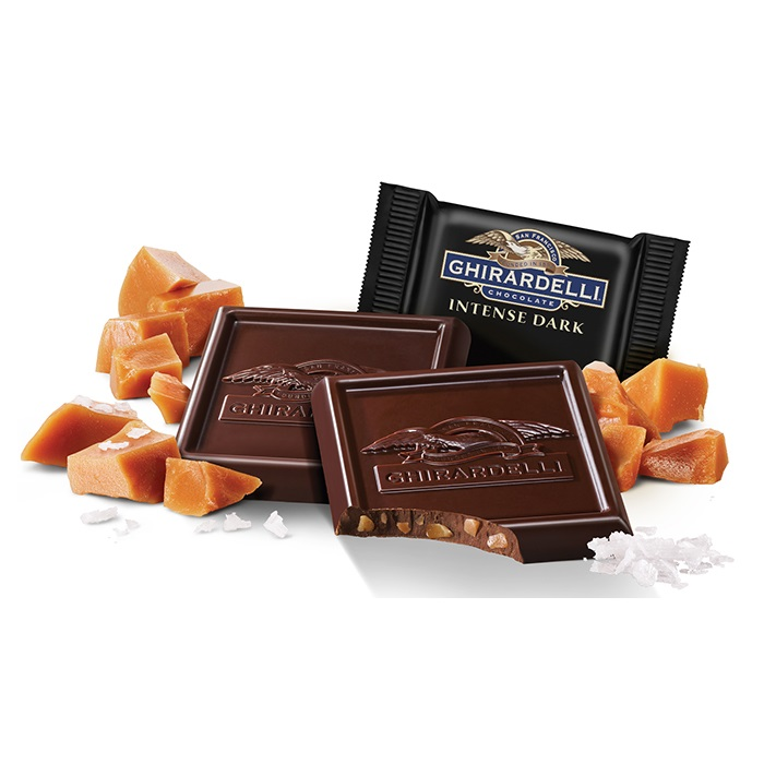 Image for Intense Dark Chocolate Salted Caramel Crunch SQUARES Case Pack (540 ct) from Ghirardelli