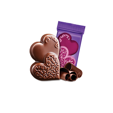 Milk Chocolate Duet Hearts Case Pack (500 ct)