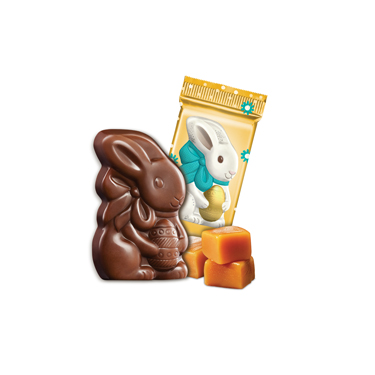 Milk Chocolate Caramel Bunnies (500 ct)