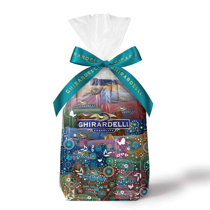 Ghirardelli Spring Assorted Chocolate SQUARES Gift Bag, 80 pc