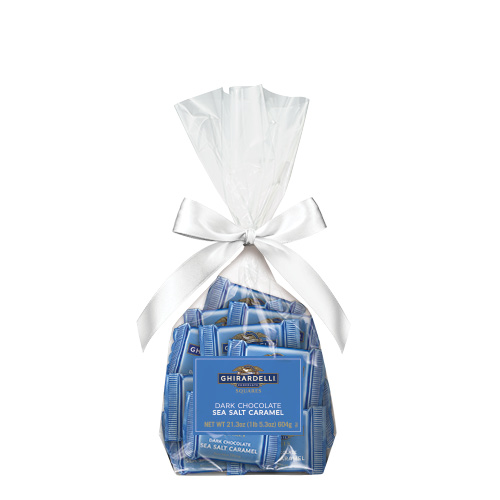 Image for Dark Chocolate Sea Salt Caramel SQUARES Gift Bag (40 pc) from Ghirardelli