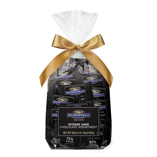 Intense Dark Chocolate Assorted SQUARES Gift Bag (80 pc)