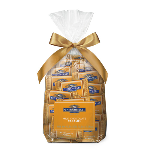 Image for Milk Chocolate Caramel SQUARES Gift Bag (80 pc) from Ghirardelli