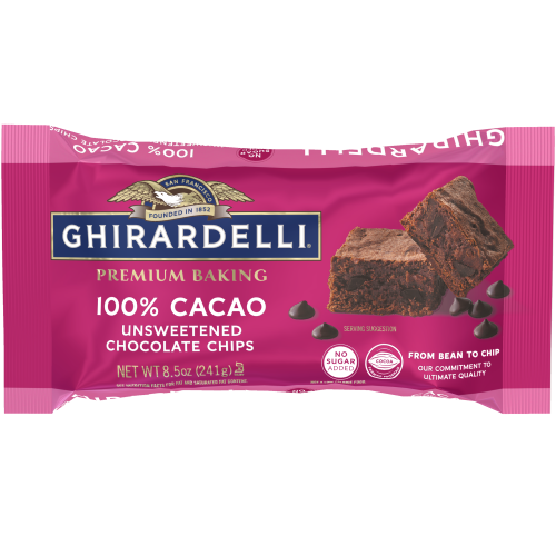 Image for Ghirardelli 100% Cacao Unsweetened Chocolate Premium Baking Chips (Case of 12 Bags) from Ghirardelli