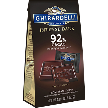 Image for Intense Dark Chocolate 92% Cacao SQUARES Medium Bags (Case of 6) from Ghirardelli