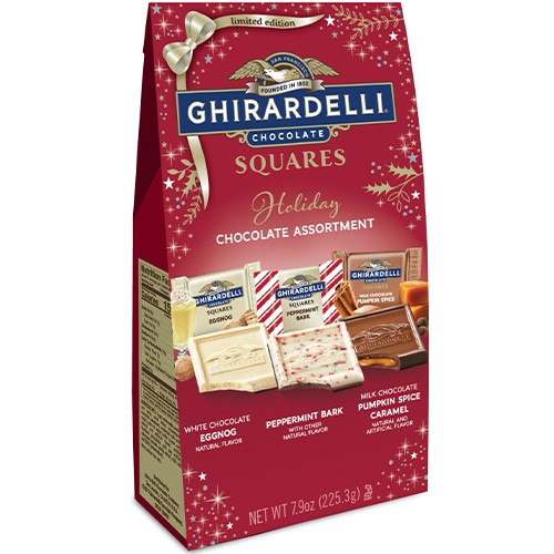 Image for Holiday SQUARES Assortment Large Bags (Case of 12) from Ghirardelli