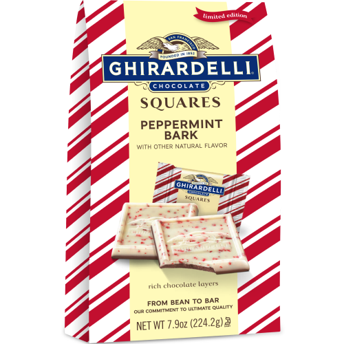 Image for Peppermint Bark SQUARES Large Gift Bags (Case of 12) from Ghirardelli