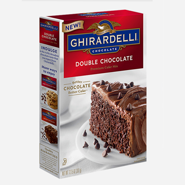 Image for Double Chocolate Cake Mix (Case of 12) from Ghirardelli