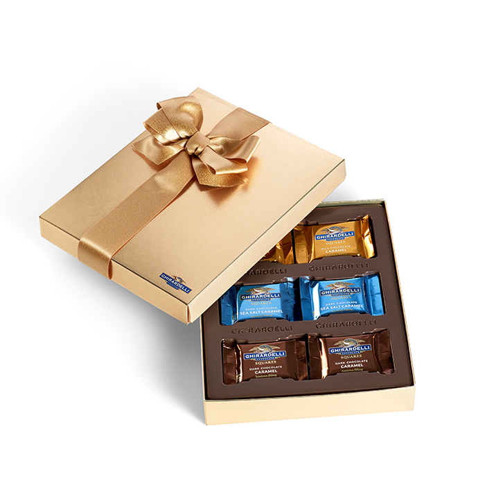 Ghirardelli Holiday Chocolate Caramel Assortment Gift Box , 18 pc