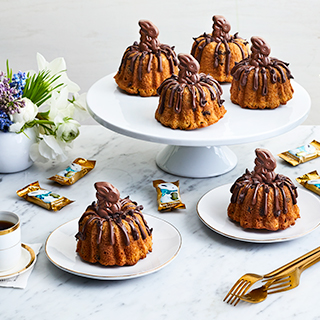 Easter Chocolate Chip Mini Bundt Cake