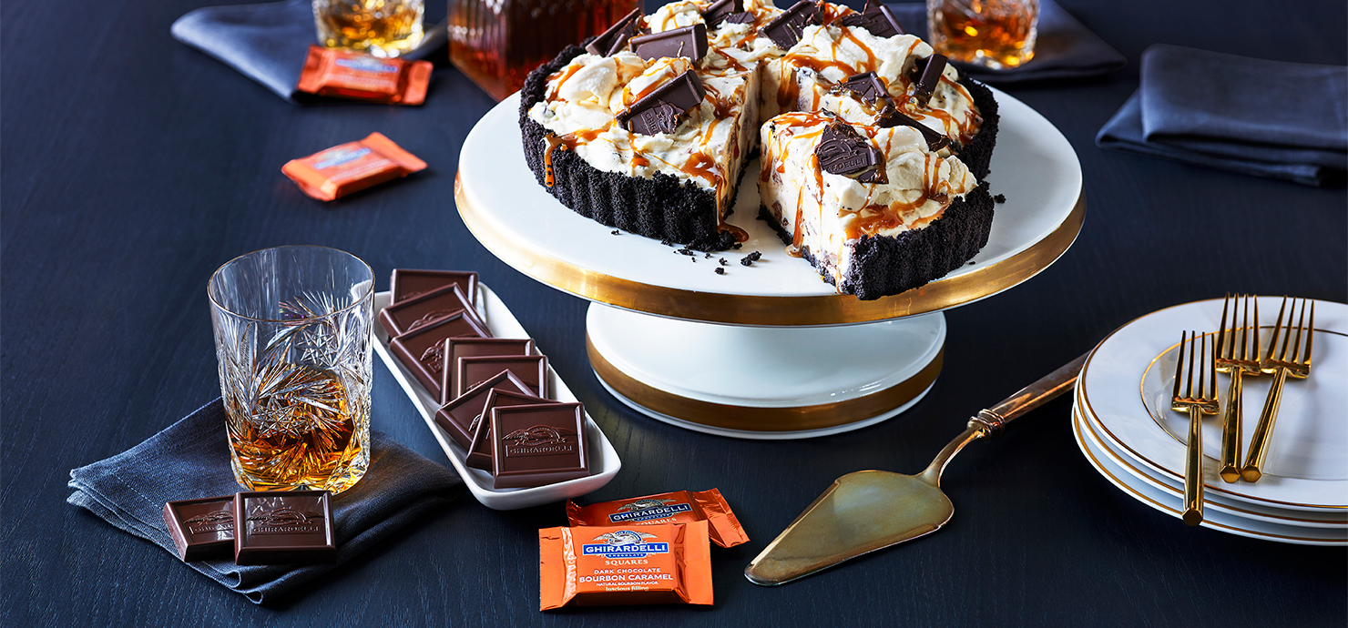 Image for Bourbon Caramel Ice Cream Pie from Ghirardelli