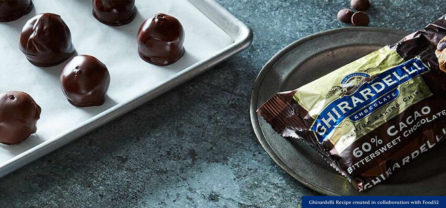 Image for No-Bake Dark Chocolate Almond Butter Bon Bons from Ghirardelli