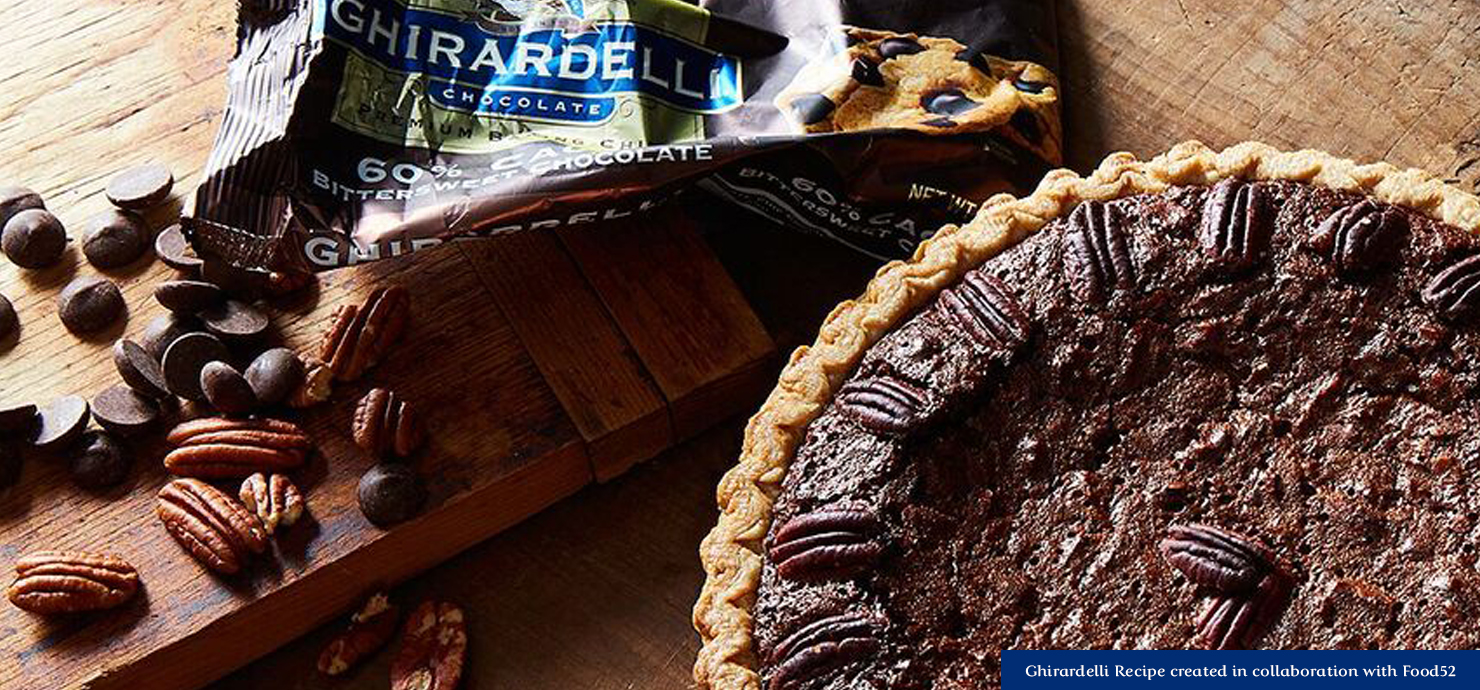 Image for Dark Chocolate Pecan Pie from Ghirardelli