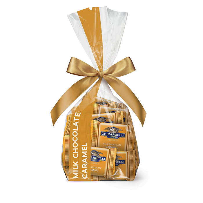 82298 ghirardelli gift bag 33 milk chocolate caramel squares