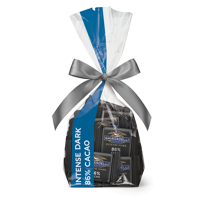 Ghirardelli Intense Dark Chocolate 86% Cacao SQUARES Gift Bag, 40 pc