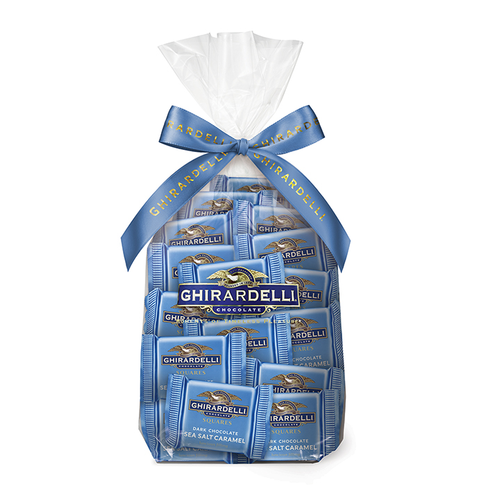 83859 ghirardelli gift bag 80 dark chocolate sea salt caramel squares