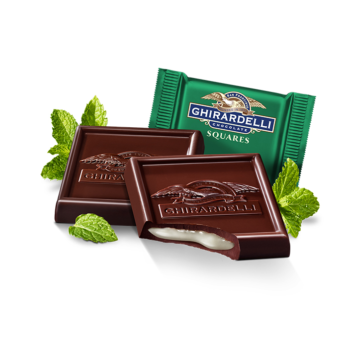 Image for Dark Chocolate Mint SQUARES Case Pack (430 ct) from Ghirardelli